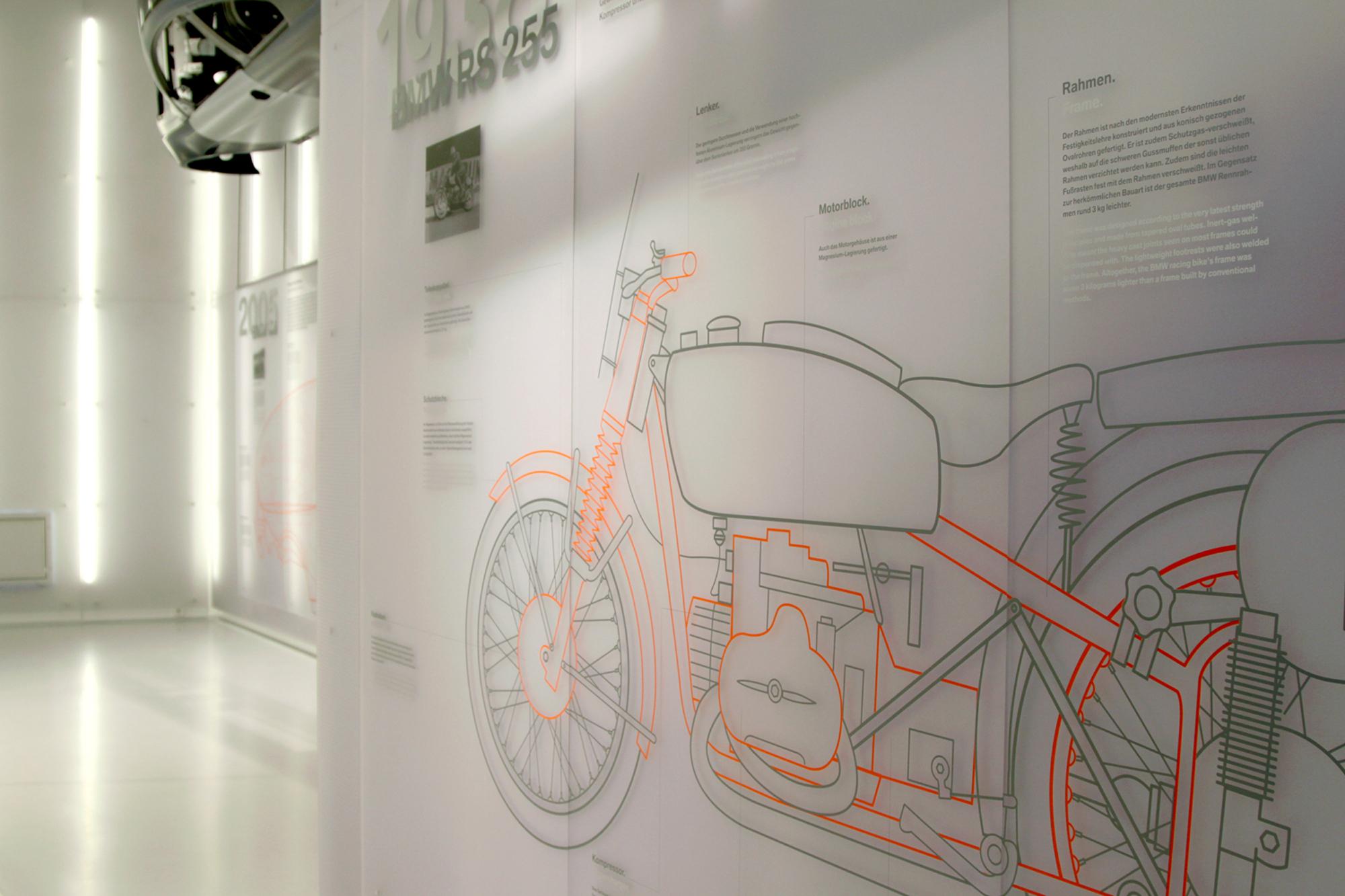 Eva Plass: <strong>BMW Museum</strong><br> &ndash; Visuelle Identität, Ausstellungsgrafik / bei Integral Ruedi Baur Zürich / 2008