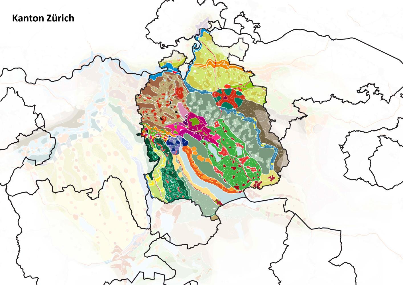 Eva Plass: <strong>Metropolitanregion Zürich</strong><br> &ndash; Kooperative Studie Raumplanung / bei Integral Ruedi Baur Zürich / 2010