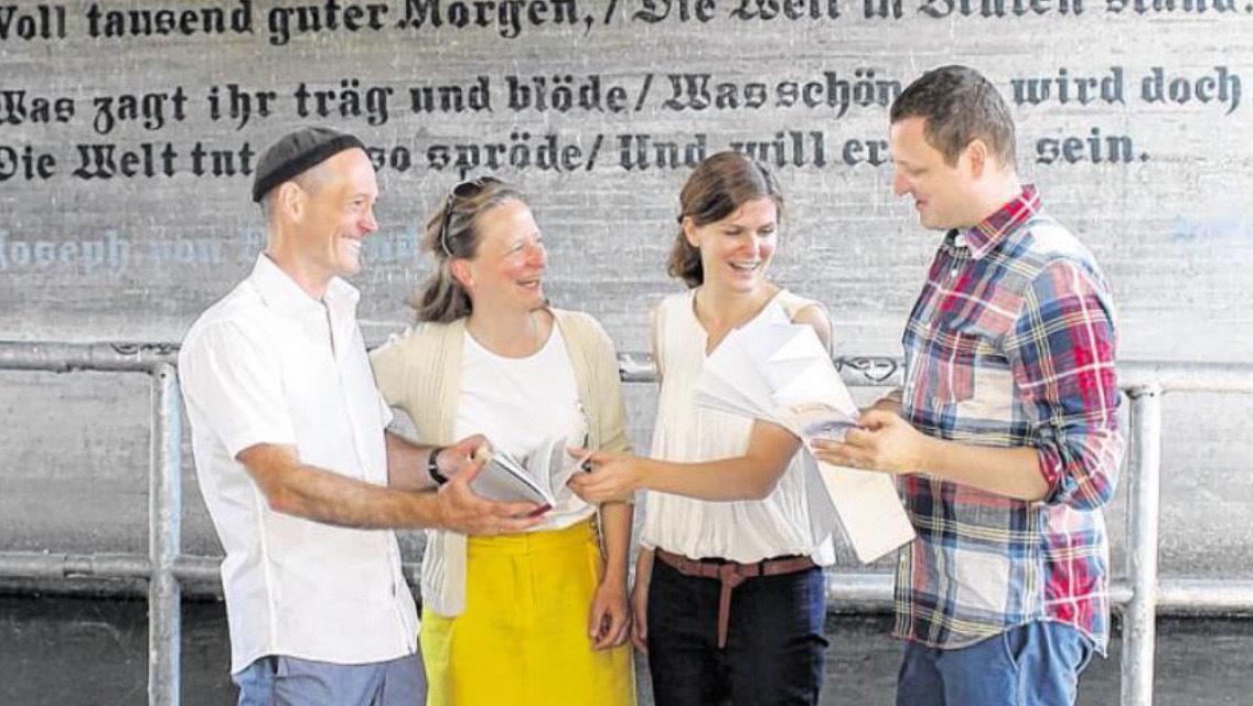 Eva Plass: <strong>Untenrum! Expedition in Karlsruhes Wilden Süden</strong><br> &ndash; Stadtführer und Expeditionskarte / 2015