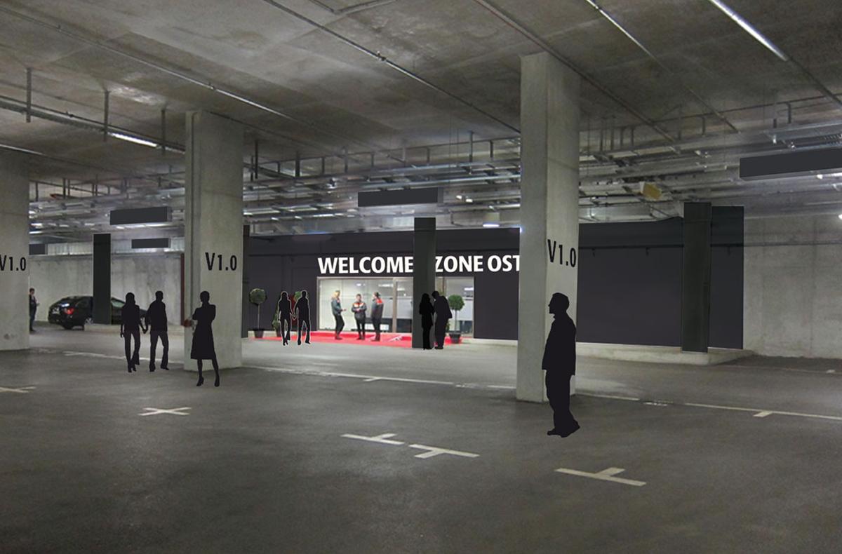Eva Plass: <strong>Allianz Arena München</strong><br> &ndash; Wettbewerb Orientierungs- und Leitsystem 2. Platz / mit Integral Ruedi Baur Zürich / 2016