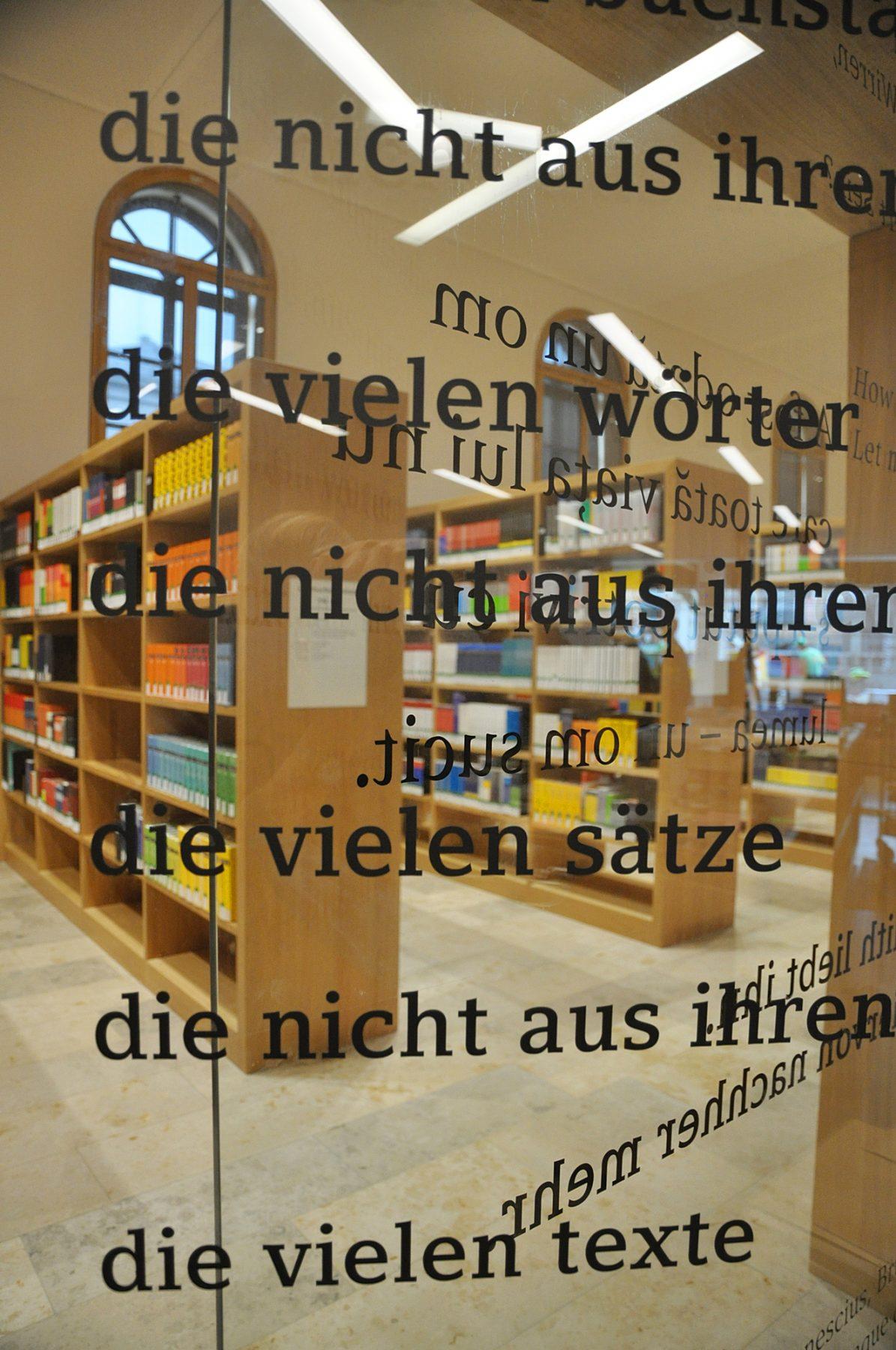 Eva Plass: <strong>Philologicum Fachbibliothek LMU München</strong><br> – Signaletik / Visuelle Identität / München 2019